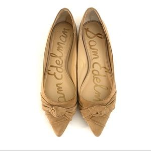 Sam Edelman | Suede flat pointy shoes, color tan